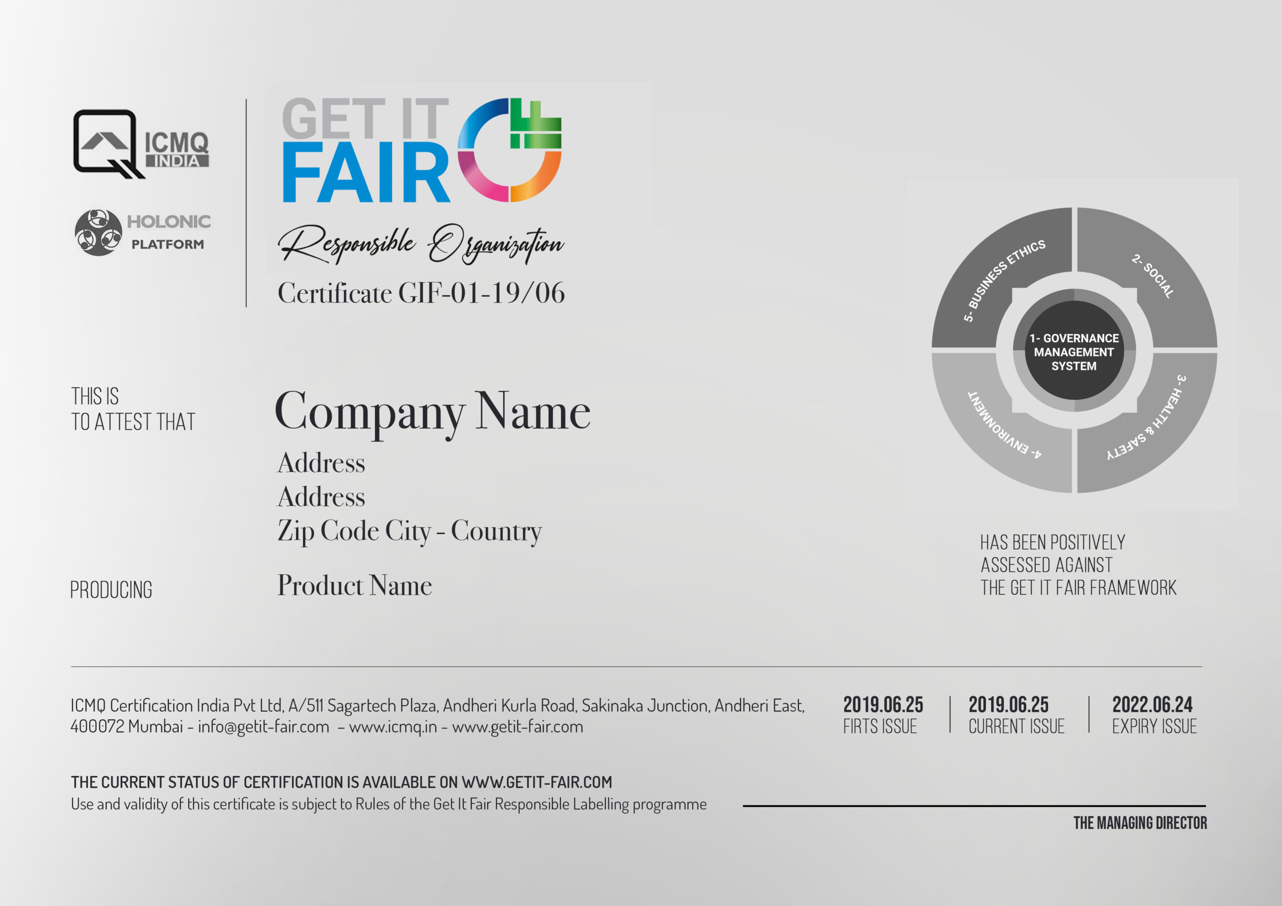 GIF Certificate
